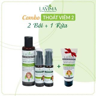 [TẶNG TUÝP 0Đ] Combo 2 Gel Bôi và 1 Gel Rửa phụ khoa Lavima- 100% thảo dược Châu Âu 1