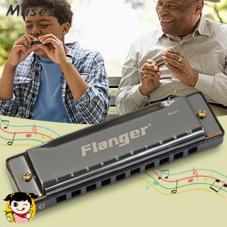 Flanger FH-01 Diatonic Blues Harmonica Standard 10 Hole 20 Tone with Case C Key for Beginner