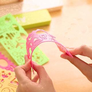 Kids Drawing Template Lovely Ruler Drafting Stencil Pattern Symbols Shape for Child Crafts School Projects