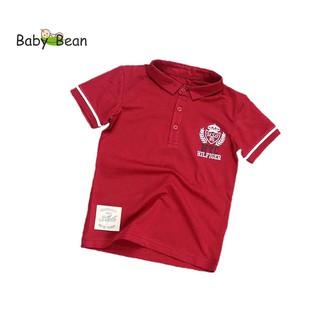 Áo thun Cotton có Cổ hình Chiếc Lá tay ngắn bé trai BabyBean