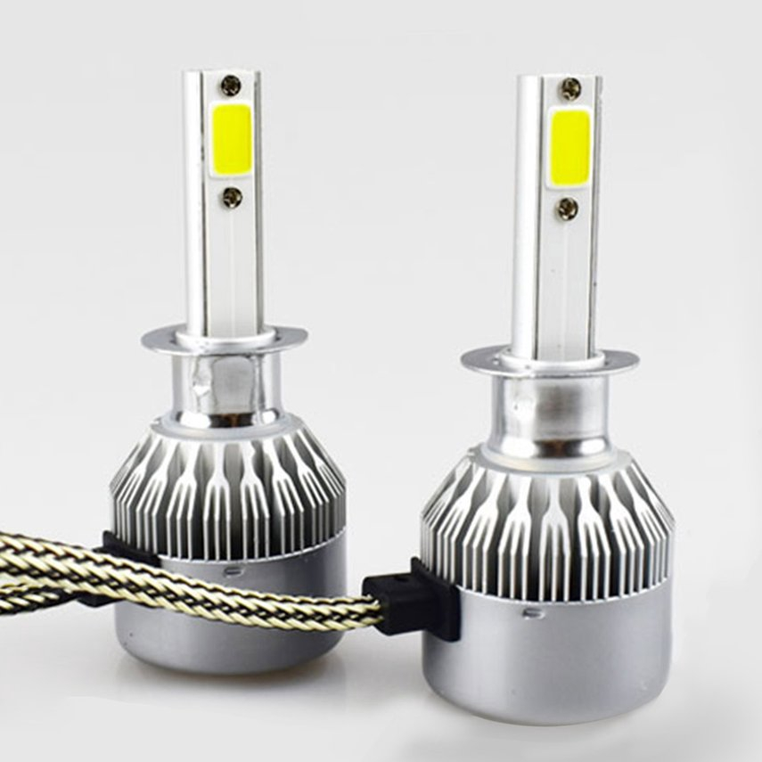【xy】 2 Pcs Led Headlight 6000K 36W 3800LM C6 Headlight Car Hi/Lo Beam Auto Bulbs