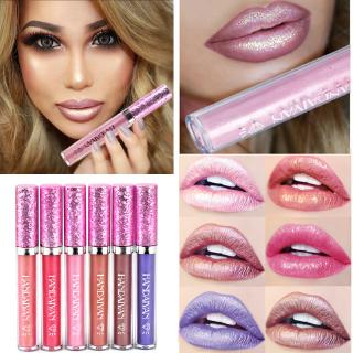 Diamond Pearl Lip Gloss Non-stick Cup Mermaid Lip Gloss Lipstick