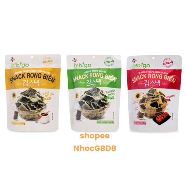 Snack Rong Biển Bibigo Hàn Quốc 3 vị gói 25gr