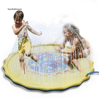 BOYS Marine Animal Round Baby Inflatable Pad Tummy Time Water Filled Cushion Toy
