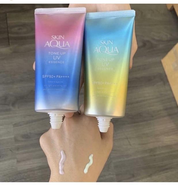Kem chống nắng Skin Aqua Mint phiên bản dành cho da mụn, nhay cảm