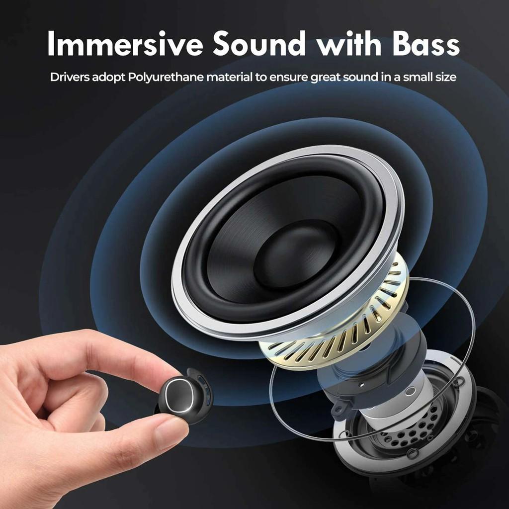 [Mã SKAMPUSHA7 giảm 8% đơn 250k]Tai Nghe True Wireless Mpow M30 Âm Bass Đỉnh Cao, Chống Nước IPX8