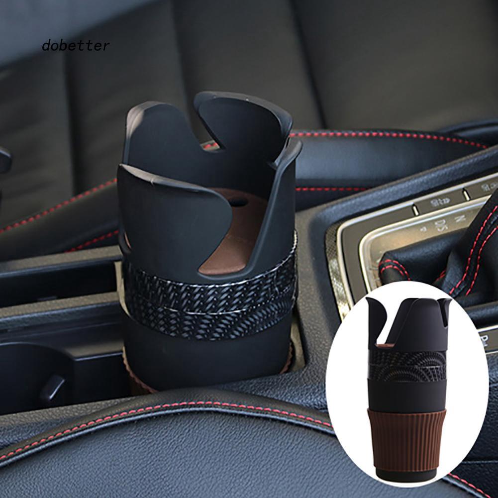 DOBT_Multiuse Car Accessories Central Storage Box Phone Drink Cup Holder Organizer