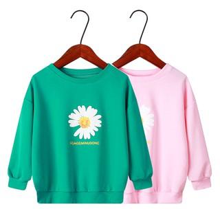 Áo thun tay dài in hoa xinh xắn cho bé gái