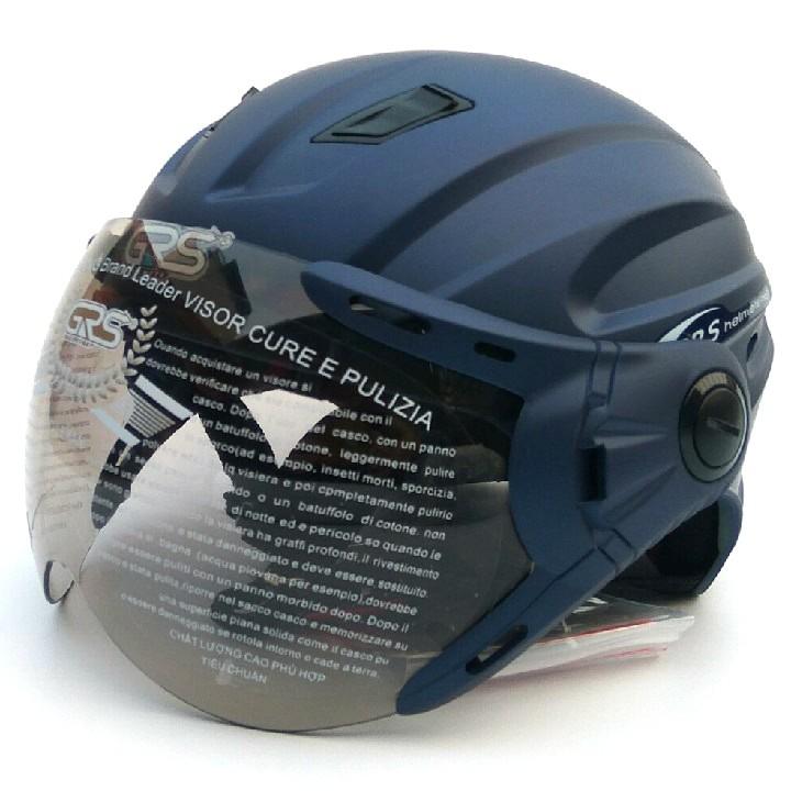 Mũ Bảo Hiểm Nửa Đầu GRS A737K (màu xanh tím than nhám)