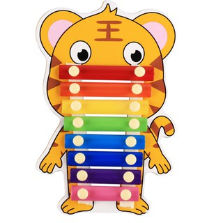Đồ chơi đàn gỗ Xylophone 8 nốt nhạc - Đồ chơi âm nhạc 8 sắc màu nhiều hình con vật đáng yêu cho Bé Kagonk