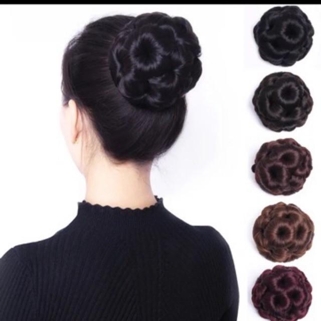 FREESHIP ĐƠN 99K_Búi hoa kẹp cho quý cô trung niên tóc giả cao cấp- hình