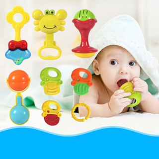 ※※※7/8/10PcsRattles Teether Shakers ToddlerGrip Bells