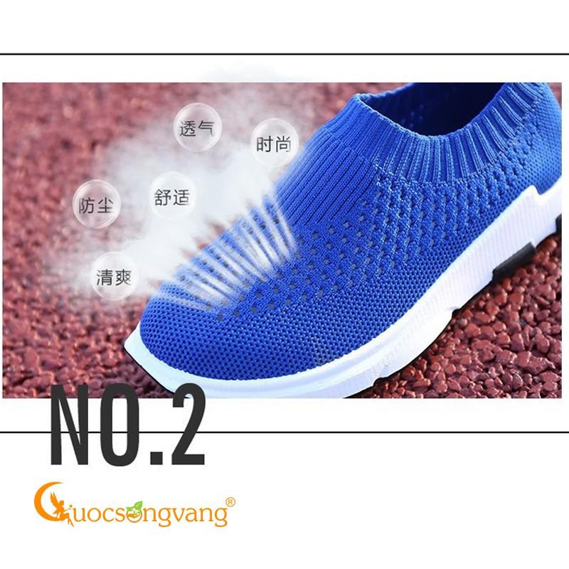 Giày lười bé trai thể thao giày mọi trẻ em thoáng khí màu xanh biển GLG095 Cuocsongvang