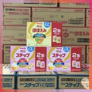 Combo 2 Hộp Sữa Meiji 800g lon Meiji số 0 và số 1 hàng nội địa Nhật thumbnail