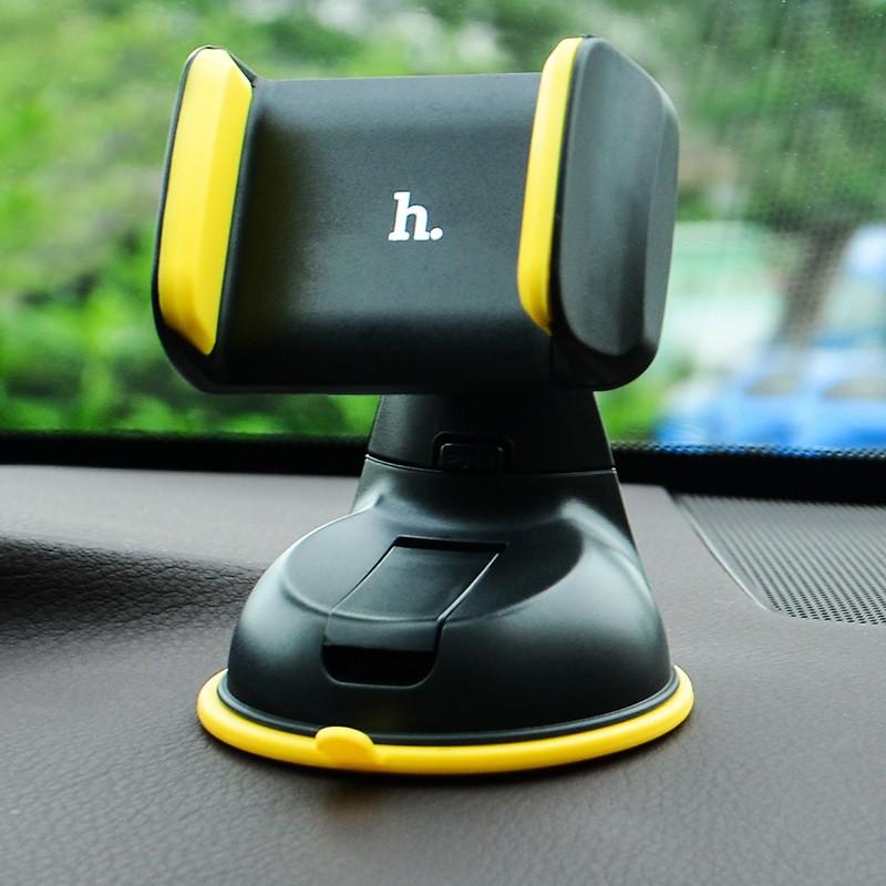 Gía đỡ điện thoại trên xe hơi Hoco CA5 xoay 360 độ hít chân không mạnh mẽ và ổn định