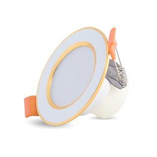 Đèn Led âm trần, đèn dowlight Rạng Đông D AT10L ĐM 60/3W đổi màu 3 chế độ bảo hành 2 năm