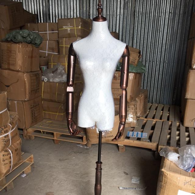 Canh tay nhựa giả gỗ nâu