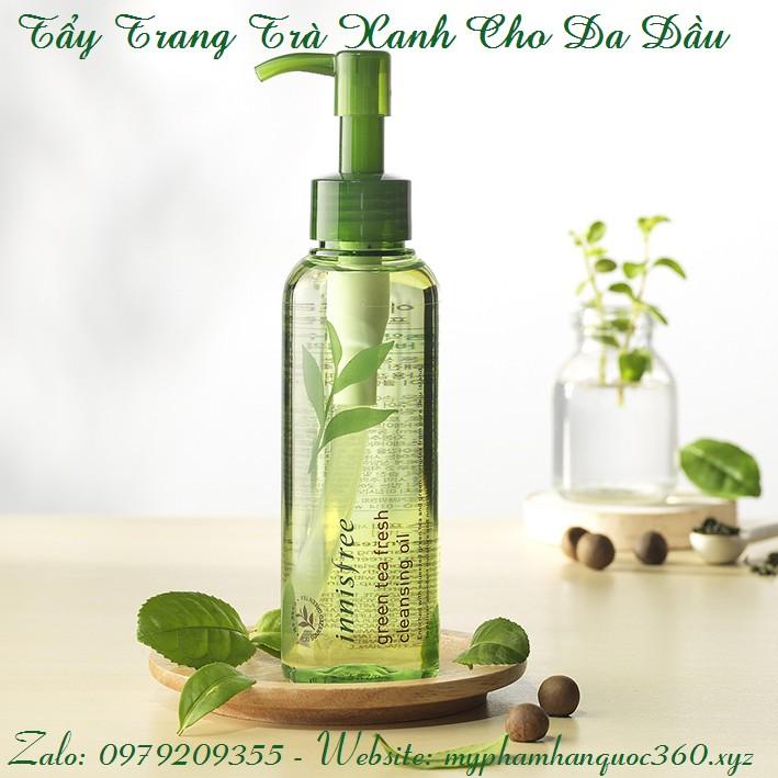 Dầu Tẩy Trang Trà Xanh Cho Da Dầu – Innisfree Green Tea Fresh Cleansing Oil - 3172595 , 339465196 , 322_339465196 , 340000 , Dau-Tay-Trang-Tra-Xanh-Cho-Da-Dau-Innisfree-Green-Tea-Fresh-Cleansing-Oil-322_339465196 , shopee.vn , Dầu Tẩy Trang Trà Xanh Cho Da Dầu – Innisfree Green Tea Fresh Cleansing Oil