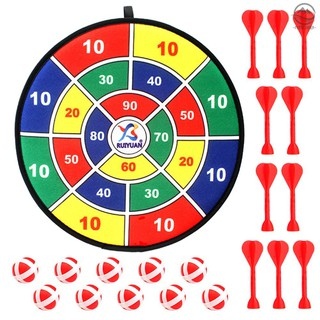 🌟Pathfinder🌟Safe Board Games for Kids 14.2 Inches Cloth Fabric Dart Board Set with Habing Strap for Boys Girls