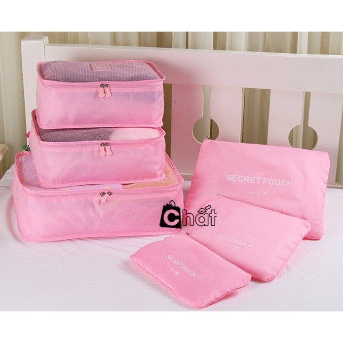 Bộ túi đa năng giúp chia hành lý du lịch (Hồng nhạt)