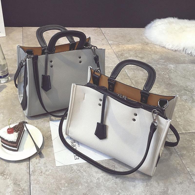 กระเป๋าหญิงกระเป๋าถือสีทึบเกาหลี