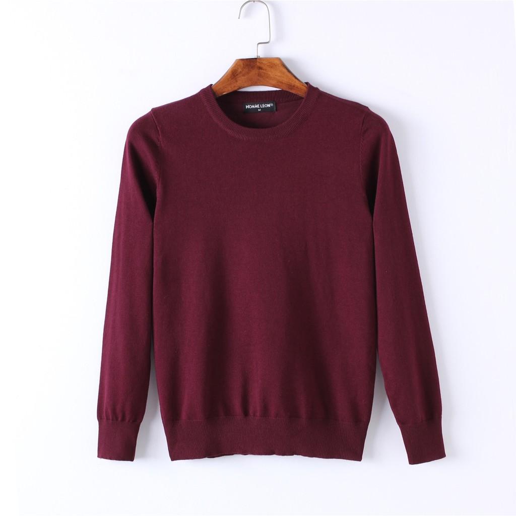 Áo len cotton 1 màu 16