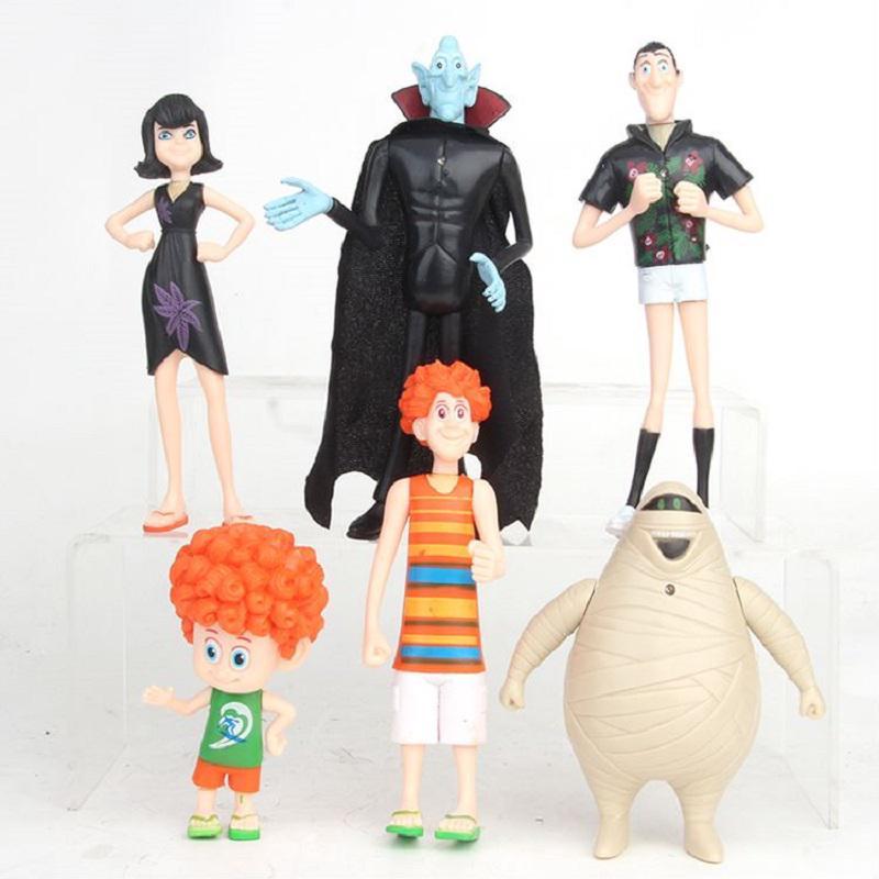 6pcs/1Set Hotel Transylvania 3 Action Figures Model Toys Collectibles Kids Gift