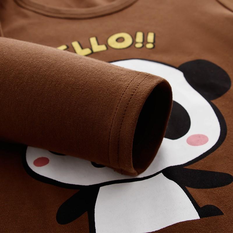 Áo Thun Tay Dài Bằng Cotton 100% In Hình Dễ Thương Cho Bé