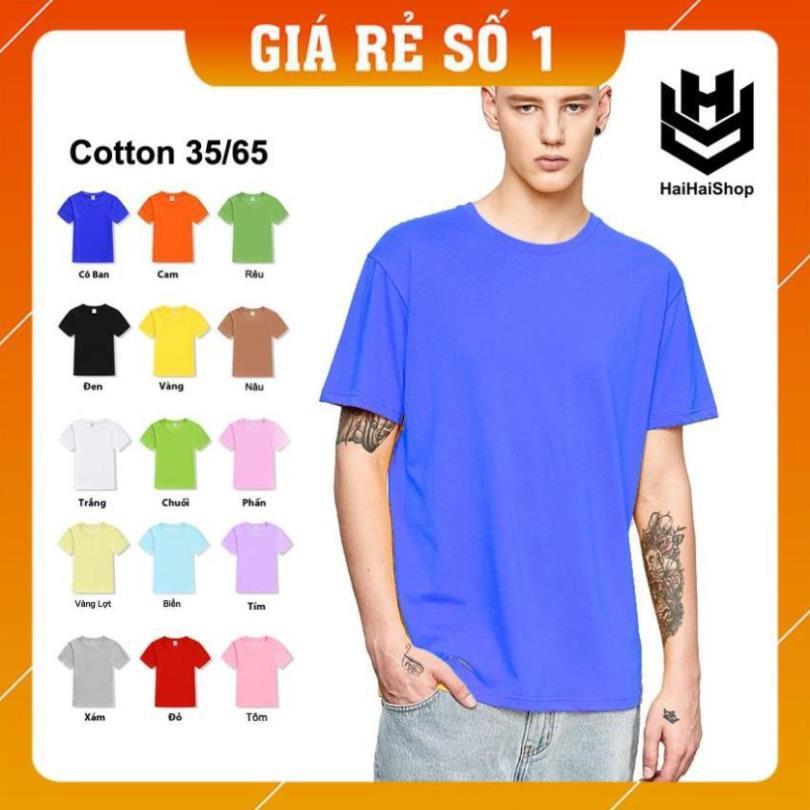 [Giá Sập Sàn] Áo Thun Trơn Nam Nữ Cổ Tròn Nhiều Màu, Chính Hãng Ken T-Shirt