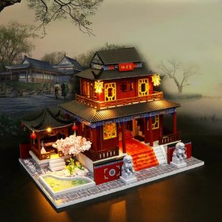 Kèm mica và keo dán – Mô hình nhà gỗ búp bê Dollhouse DIY – M909 Three Live Three Worlds Eternal Love