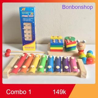 COMBO đồ chơi gỗ giúp bé phát triển kỹ năng sớm [Bao Giá Shopee]