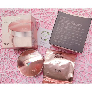 SET Phấn Nước Clio Kill Cover Glow Cushion SPF50+ PA+++ (+ 1 lõi refill)