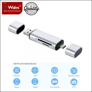 Đầu Đọc Thẻ Nhớ 3 Trong 1 (USB Type A, Micro USB, USB Type C)/Three-in-one Multifunction OTG Reader