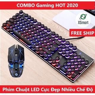 Bộ Bàn Phím Led RGB 10 Chế Độ K100 Và Chuột Gaming V8 Cực Đẹp Phím Êm Chuột Nhạy thumbnail