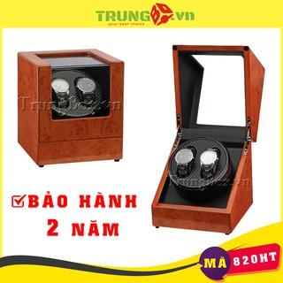 Hộp Lắc Đồng Hồ Cơ 2 Xoay Vỏ Gỗ Sơn Mài - Mã 820HT thumbnail