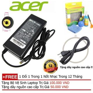SẠC LAPTOP ACER 19V-4.74 Hàng nhập khẩu + Tặng dây nguồn dài 1.8m, bộ vệ sinh laptop