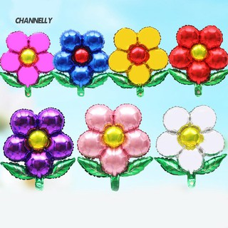 ■Cy 5 Petals Flower Aluminum Foil Balloon Birthday Party Festival Decor Kid Toy