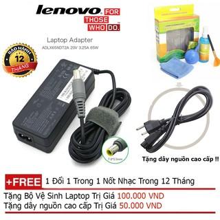 SẠC LAPTOP Lenovo 20V-3.25A Chân kim + Tặng dây nguồn dài 1.8m, bộ vệ sinh laptop