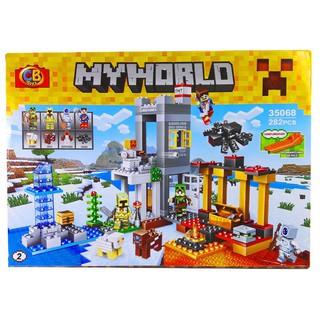 Bộ Lego Xếp Hình My World Mineecraft Trang Trại. Gồm 282 Chi Tiết. Lego Ninjago Lắp Ráp Đồ Chơi Cho Bé.