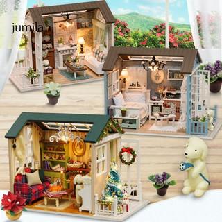 JULA DIY Mini Dollhouse Furniture Kit Assembly Model Toy Children Kids Birthday Gift