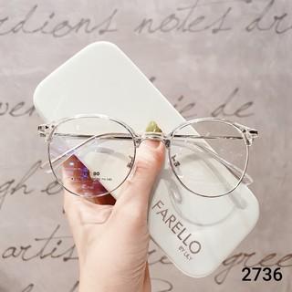 Hình ảnh Gọng kính cận tròn kim loại thời trang nữ Lilyeyewear 2736-4