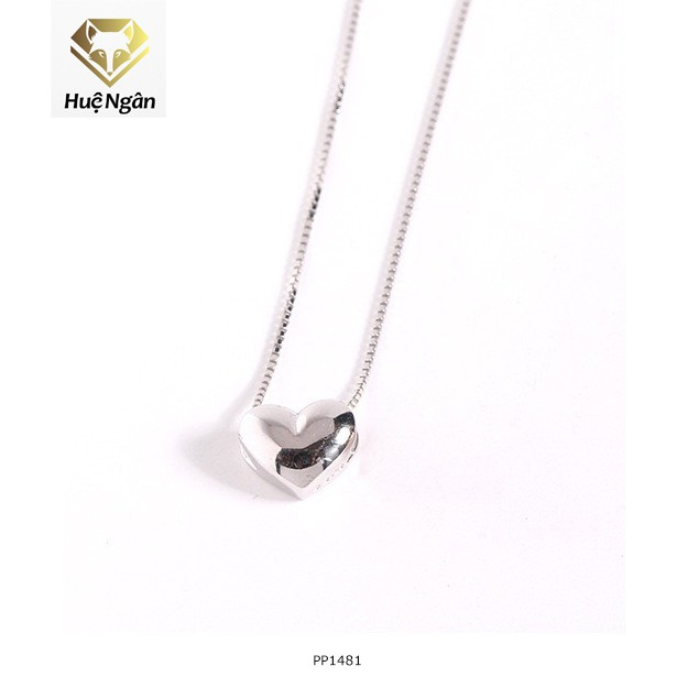 Dây chuyền bạc 925 Huệ Ngân - Tim phồng xinh xắn PP1481