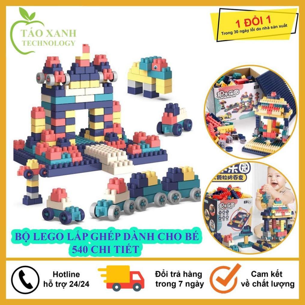 Đồ Chơi Lắp Ghép, Bộ Đồ Chơi Lắp Ghét Lego 520 Chi Tiết Dành Cho Bé, Tăng Khả Năng Sáng Tạo, Tư Duy Cho Bé Phát Triển