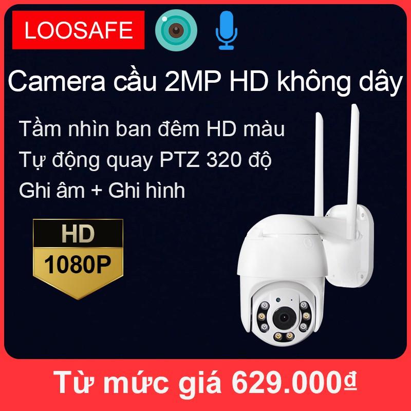 Camera Wifi ngoài trời Full HD 2MP chống nước, PTZ  camera có thể xoay , Camera IP Giám Sát
