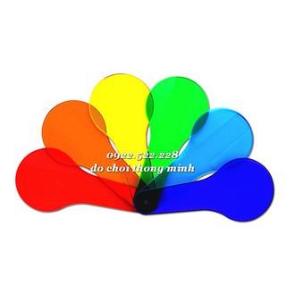 Thanh mica trộn mầu chơi bàn ánh sáng – bộ 6 thanh 6 mầu