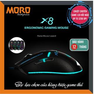 Chuột máy tính có dây chuyên game IMICE X8 - Led đổi màu cực đẹp - Up to 3200 Dpi thumbnail