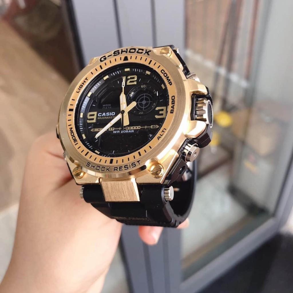 Đồng hồ nam Casio G-shock  MTS_G1000 Original –Chống nước 20Bar Viền Thép không gỉ, Nam tính, 45mm FASHION_WATHCES