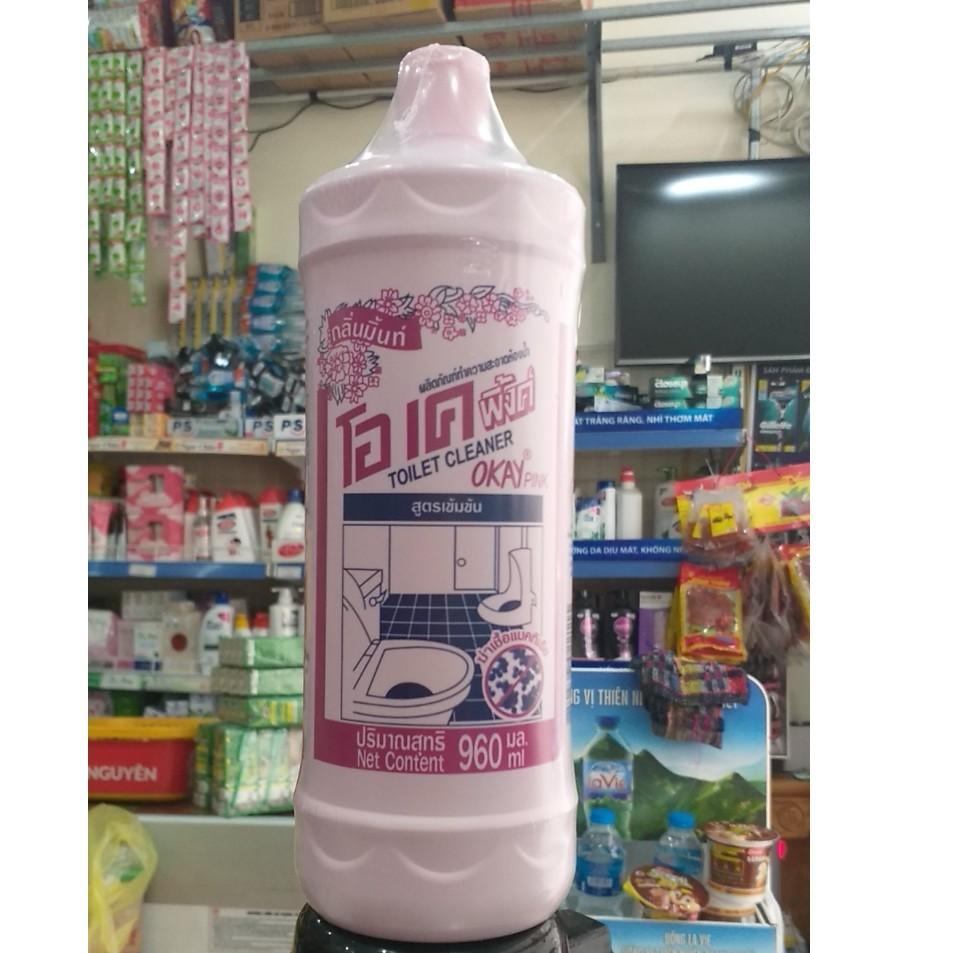 Nước Tẩy Bồn Cầu Okay Pink Thái Lan 960ml (Chuẩn Thái)