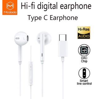 Mcdodo Type C HD stereo digital audio earphone