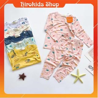 Bộ ngủ thun lạnh dài tay hoạ tiết xinh xắn cho bé gái bé trai (8-26kg) – Hirokids